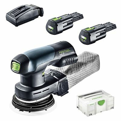 FESTOOL Akku-Exzenterschleifer ETSC 125 Li 3,1-Plus 576899 2 x 18V Battery