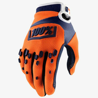2018 100% AIRMATIC MOTOCROSS MX GLOVES ORANGE / NAVY mtb enduro bike