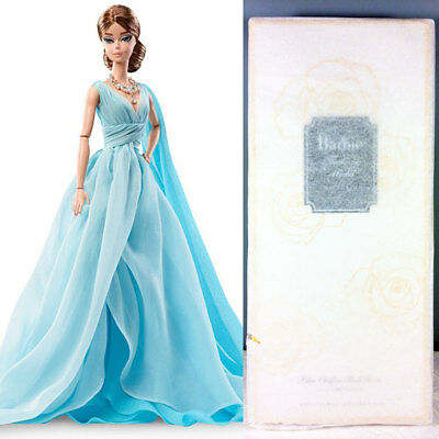 2017 Blue Chiffon Ball Gown Barbie Doll - Gold Label Silkstone - NRFB in Tissue
