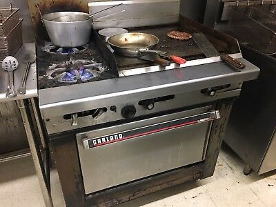 Garland Commercial Natural Gas Oven/Stove/Griddle