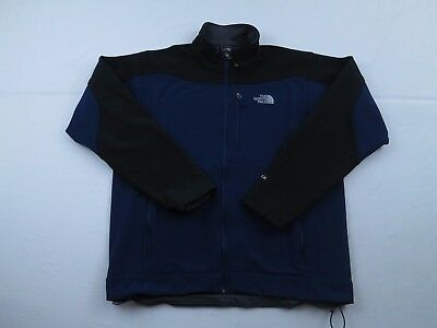 Mens North Face Apex Bionic Blue Jacket Coat Size XL Full Zip Fall Fleece Lined