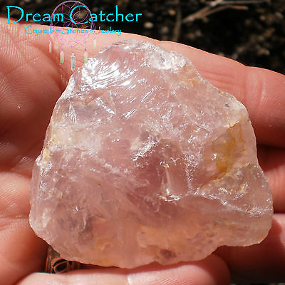 NATURAL ROSE QUARTZ STONE Pink Madagascar #39 Wicca WItchcraft Crystal Healing