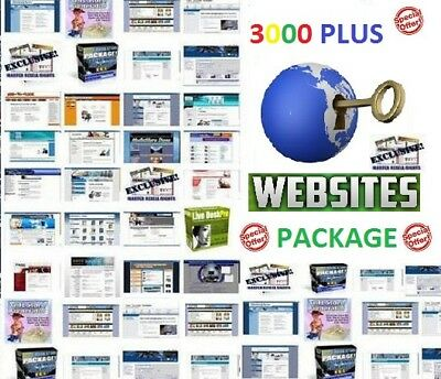 *BEST DEAL* 3000 plus Turnkey website scripts PACKAGE
