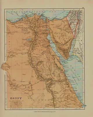 Edward Stanford Map  1920 . Egypt