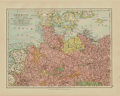 Edward Stanford Map  1920 . Germany