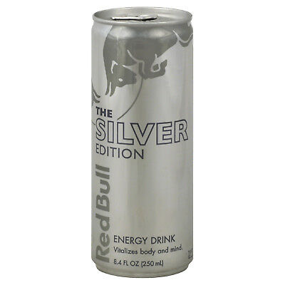 Rare! OOP Red Bull The Silver Edition Lime Flavor Sealed 8.4 FL OZ Can!