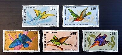 CHAD 1964 Birds (5) SG163/7 U/M NB3449