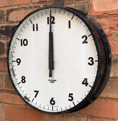 Vintage Gent's Leicester Industrial Factory Station Railway Platform Wall Clock