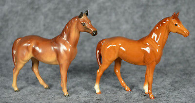 Hagen-Renaker Miniature Swaps Thoroughbred horse, vintage and new versions