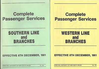 1981 NSW Country Timetables: Nth, West & Sth