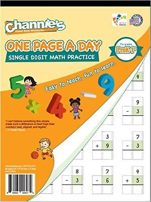 One Page  A Day Single Digit Addition Subtraction K-1