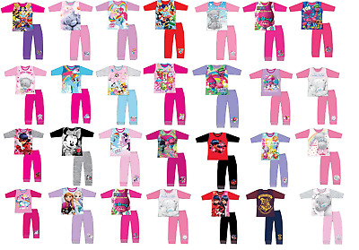 Kids girls  Official Character Pyjama Set Nightwear Sleepwear, SIZE 3 - 12 Years