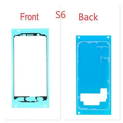 Samsung Galaxy S6 LCD Screen Front Back Frame Bezel Glue Adhesive Tape Sticker