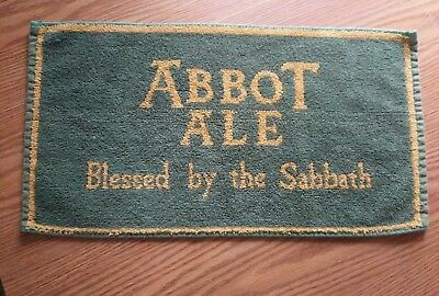 (Look) Abbot Ale 2 different bar pub cloth towels game room