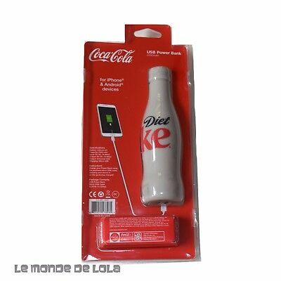 New COCA COLA USB Portable POWER BANK Charger Licensed Diet COKE iPhone Android