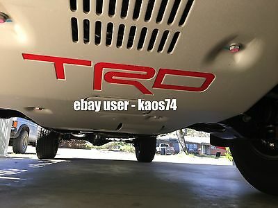 Toyota Tacoma TRD PRO Skid Plate Decal 2015 2016 2017 2018