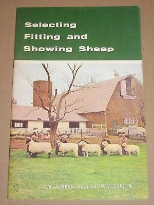 Vintage 1959 ALBERS Brochure•SELECTING FITTING & SHOWING SHEEP + Princess Diana?