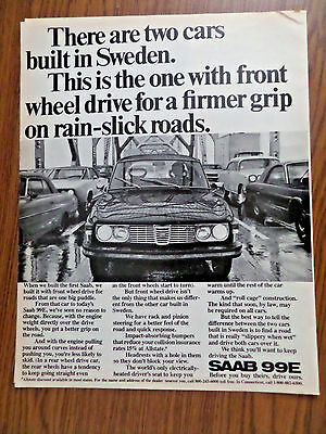 1972 SAAB 99E Ad  Two Cars Built in Sweden