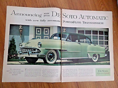 1954 DeSoto Automatic Ad   With New Fully Automatic Powerflite Transmission