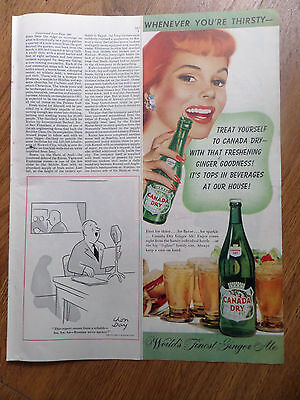 1948 Canada Dry Soda Pop Ad World's Finest Ginger Ale