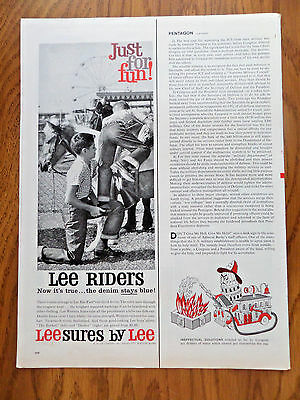 1960 Lee Riders Jeans Ad  Little Cowboys