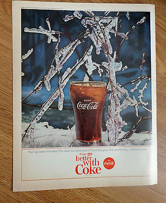 1964 Coke Coca-Cola Ad Ice on Tree Branches
