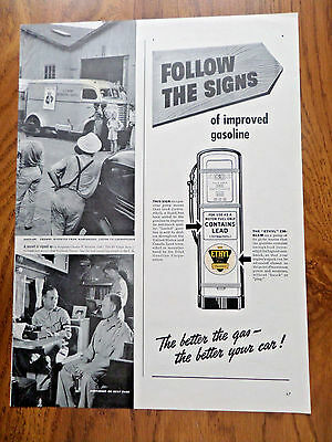 1940 Ethyl Gasoline Ad Gas Pump