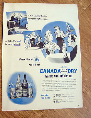1945 Canada Dry Water & Ginger Ale Ad