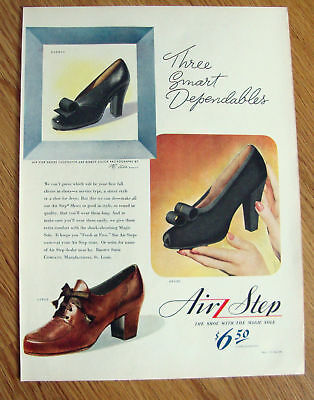 1943 Air Step Shoes Ad Three Smart Dependables