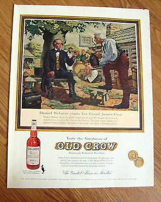 1960 Old Crow Whiskey Ad Daniel Webster Visits James Crow at the Distillery