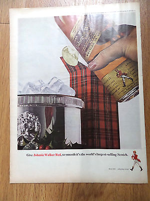 1964 Johnnie Walker Red Whiskey Ad  Christmas Theme