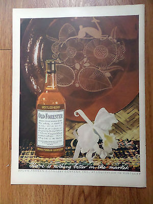 1944 Whiskey Ad Old Forester Kentucky Straight Bourbon Whisky