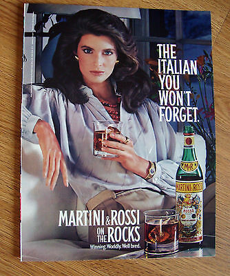 1984 Martini & Rossi Ad   The Italian you Won't Forget