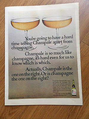 1968 Champale Champagne Ad Hard Time Telling Apart