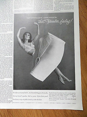 1962 Life Formfit Bra Girdle Ad  The Formfit Skippies Girdle