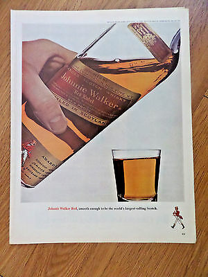 1965 Johnnie Walker Red Whiskey Ad    Smooth