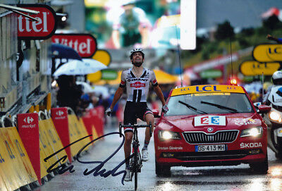 Tom Dumoulin - Autographed - Signed 8X12 inches 2016 TDF Giant Alpacin Photo