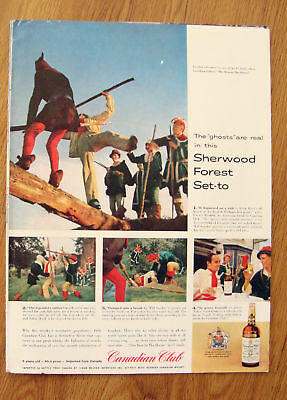 1957 Canadian Club Whiskey Ad Sherwood Foresters