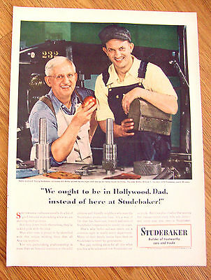 1948 Studebaker Ad Bill & William F Welter Father & Son  Toolmakers