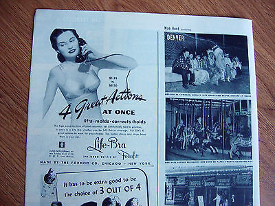 1944 Formfit Bra Ad    Life-Bra  4 Great Actions