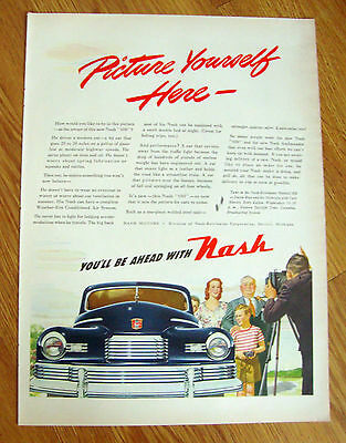1946 Nash 600 Ad  Picture Yourself Here