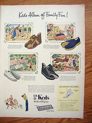 1948 U S Keds Shoes Ad 1948 Clark's Tendermint Chewing Gum Ad