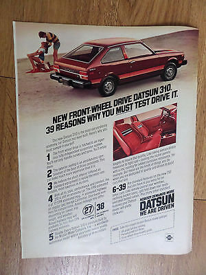 1979 Datsun 310 Ad  39 Reasons Why