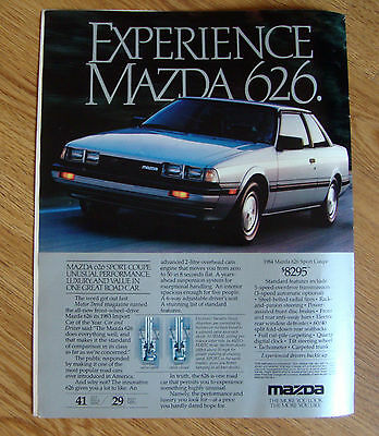 1984 Mazda 626 Sport Coupe Ad Experience