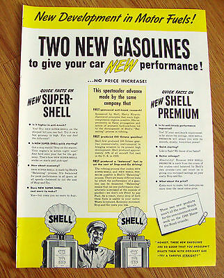 1940 Shell Oil Gasoline Ad  Two New Gaolines