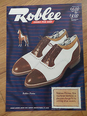 1944 Roblee Shoe Shoes Ad Pintos  1944 Wilson Ad Skipper Sportswear Swim Suits