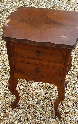 VICTORIAN  side chest with 2 draws