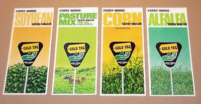 • LOT of 4 Vintage 1968 • FERRY-MORSE SEED PAMPHLETS • RARE Brochures •