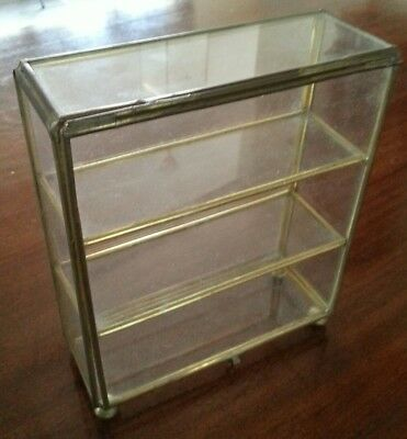 Vintage Brass and Glass display for miniatures curios