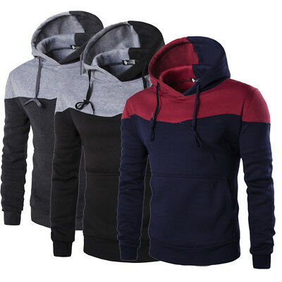 New Men's Hooded Slim Fit Cotton Long Sleeve Casual Shirt T-shirts Fashion Tops